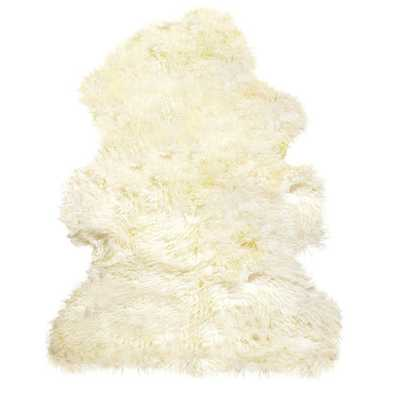 100% New Zealand Sheepskin Curly Single Natural - Domino