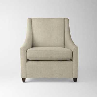 Sweep Armchair - Pebble Weave, Oatmeal - West Elm