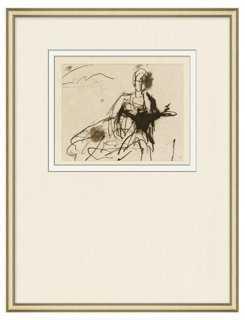 Figure Sketch 1 - 19x32 - Framed - One Kings Lane