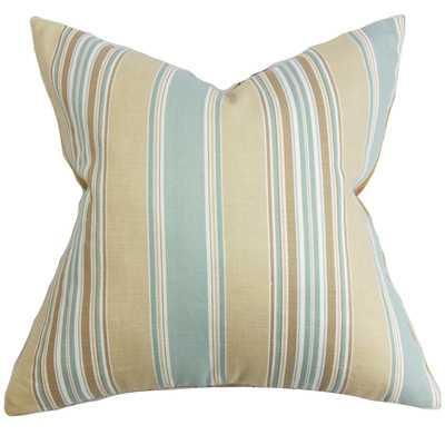 """Hollis Stripes Throw Pillow - 18"""" H x 18"""" W - Includes a 5/95 down pillow insert - Wayfair"""