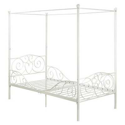 Canopy Metal Bed - White (Twin) - Target