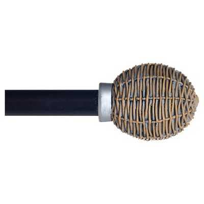 Yorkshire Home Basket Weave Curtain Rod - Target