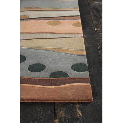 """Bajrang Hand Tufted Contemporary Wool Orange/Gray Area Rugby Chandra -5""""x 7"""" - Wayfair"""