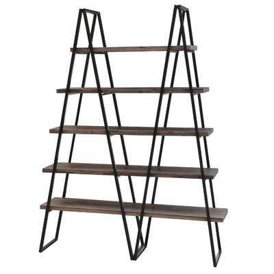 "Ashland Weathered Oak 71"" Accent Shelves - Wayfair"