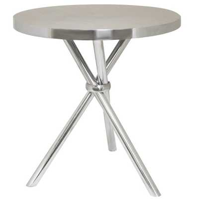 Smith Oval Aluminum Accent Table - Overstock