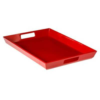 "Room Essentialsâ""¢ Large Handled Melamine Serve Tray Set of 2 - Red - Target"