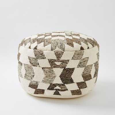 Palmette Wool Pouf - West Elm