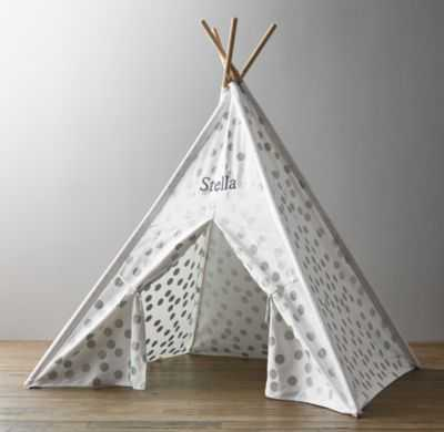 Metallic printed canvas teepee tent - RH Baby & Child