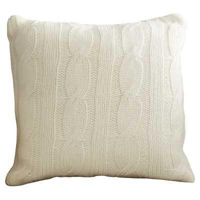Davis Wool Throw Pillow - Ivory - 18x18 - With Insert - Wayfair