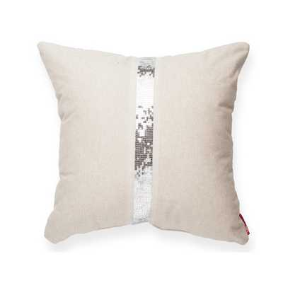 "Luxury Cross Sequin Linen Throw Pillow -17""-Eco-fill insert - AllModern"