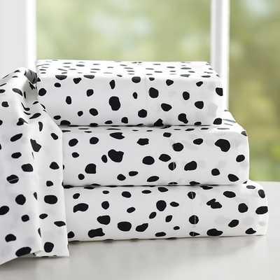 The Emily + Meritt Leopard Dot Sheet Set - Queen - Pottery Barn Teen