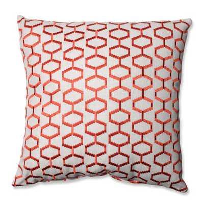 "Delightful Throw Pillow - Tigerlily - 16.5"" x 16.5"" - Polyester/Polyfill - AllModern"