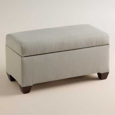 Textured Woven Pembroke Upholstered Storage Bench - World Market/Cost Plus