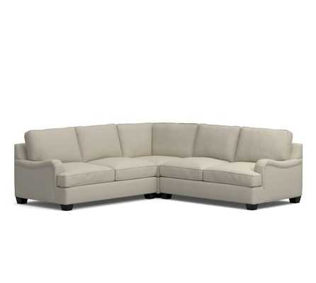 PB Comfort English Arm Upholstered 3-Piece L-Shaped Sectional with Corner - Pottery Barn
