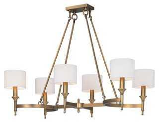 Fairmont 6-Light Chandelier, Brass - One Kings Lane