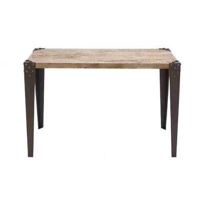 Metal Wood Console Table - Wayfair