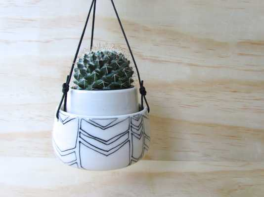 Large Low Hexagon Planter - Etsy