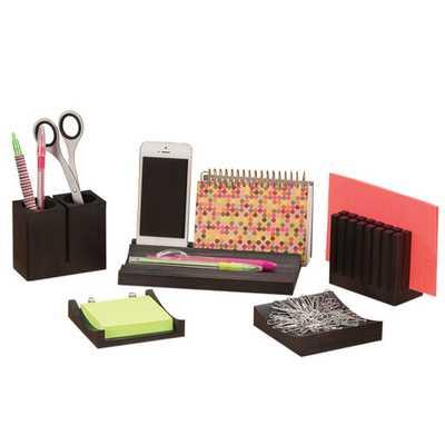 5 Piece Wood Desk Organizer Set - AllModern