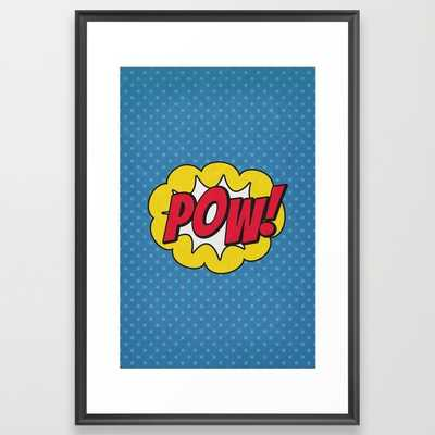 Pow! - 01 - Poster - Framed - Society6
