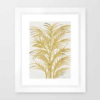 Gold Palms - 10x12, Framed - Society6