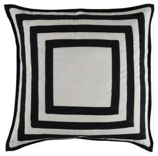 Guines 20x20 Pillow, Black - One Kings Lane