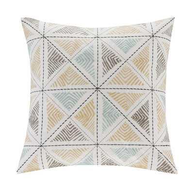 """Zelda Embroidered Cotton Throw Pillow-18""""-Polyester/Polyfill insert - Wayfair"""