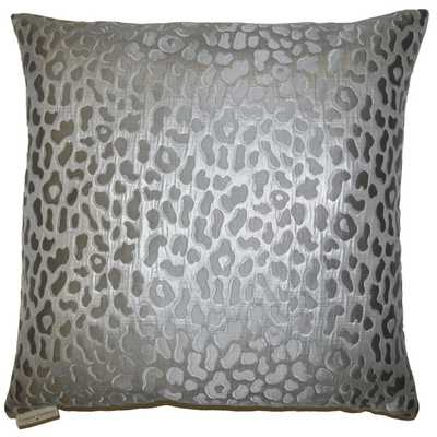 Metallic Cheetah Decorative Feather and Down Filled Throw Pillow - Overstock