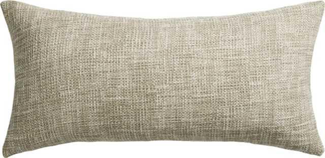 "format natural 23""x11"" pillow - CB2"