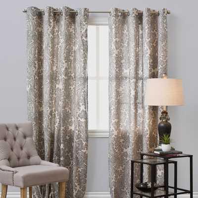 OVERSTOCK EXCLUSIVE Bazaar Linen Curtain Panel - Overstock