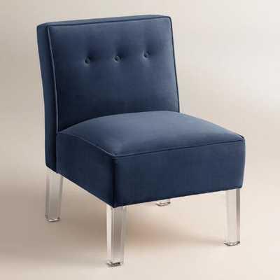Velvet Randen Upholstered Chair - World Market/Cost Plus