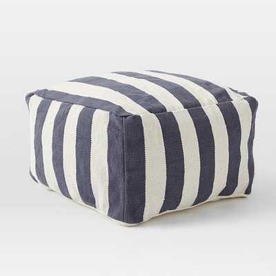 Simple Stripe Pouf - Cover + Insert - West Elm