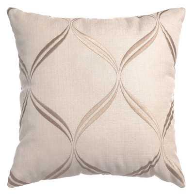 "Zina Throw Pillow - Natural - 18"" H x 18"" W x 5"" D - Feather down insert - Wayfair"