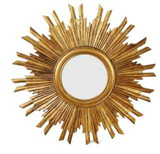 Piedmont Sunburst Wall Mirror, Gold - One Kings Lane