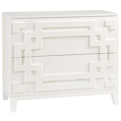 Modern Chinoiserie Chest White Small - Wisteria