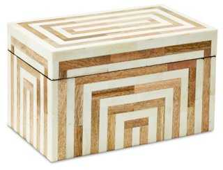 "10"" Bone-Inlay Box, Natural - One Kings Lane"