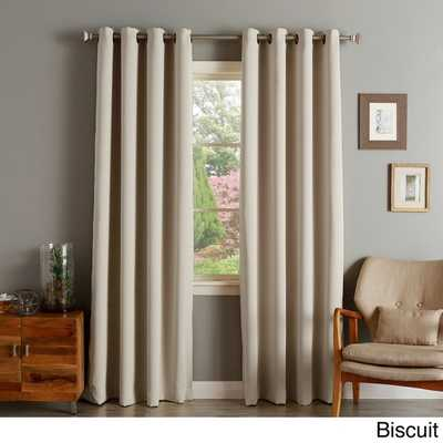 "Aurora Home Thermal  Curtain Panel Pair - 120"" - Overstock"