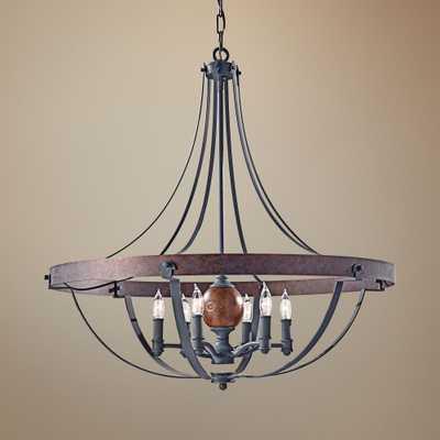 "Feiss Alston 30 1/2""W Rustic Industrial Chandelier - Lamps Plus"