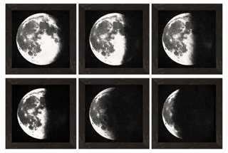 S/6 Moon Descending Prints - Framed - One Kings Lane