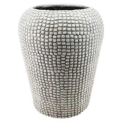 "Knob Textured Planter - White (17"") - Target"