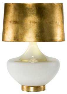 Arden Table Lamp, White/Gold - One Kings Lane