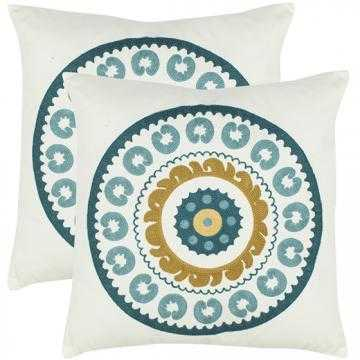 "SUNDER 18"" White PILLOW - Fiber insert, SET OF 2 - Home Decorators"