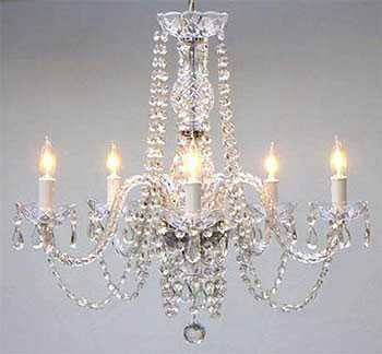 G46-384/5 MURANO VENETIAN STYLE ALL-CRYSTAL CHANDELIER! - gallery803.com