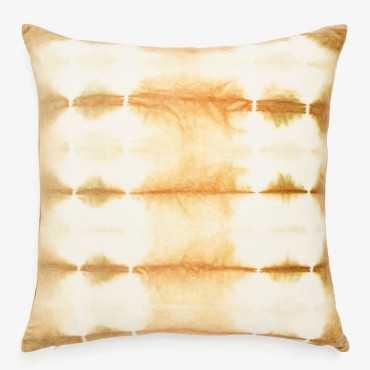 Shibori cotton velvet pillow - 22sq. - ABC Home and Carpet