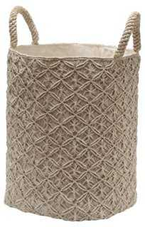Macramé Reef Knot Basket - One Kings Lane