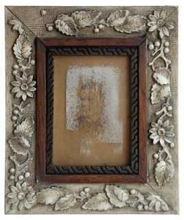 Antique Oak Hand-Painted Picture Frame - One Kings Lane