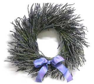 "16"" Lavender Wreath, Dried - One Kings Lane"