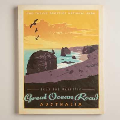 Vintage-Style Ocean Road Australia Poster - World Market/Cost Plus