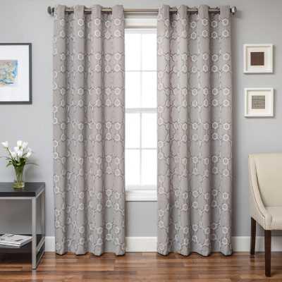 Geometric Design Grommet Top Curtain Panel - Overstock
