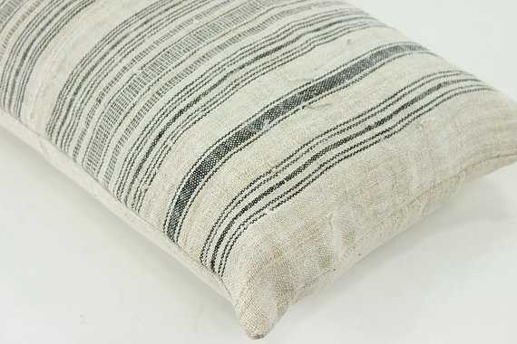 """VINTAGE Hand Woven Pillow Cover 12"""" x 20"""" - Etsy"""