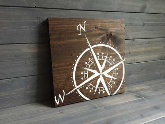Compass Wood Sign - Etsy